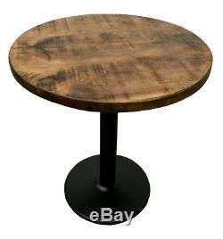 Nouveau Rustic Heavy Duty Table À Manger En Bois 700mm Round Restaurant Cafe Bistro Pub
