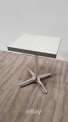 Nouveau Table De Bistrot De Bar À Café Effet Lourd En Chêne Blanc 600 X 500mm