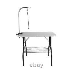 Nouvelle Table Pliable Portable 35 Bras Antidérapant Ajustez La Table De Bain De Toilettage De Chien D'animal Familier Avectray