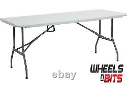 Nouvelle Table Pliante Lourde 6 Pieds Camping Pique-nique Banquet Banquet Table De Jardin