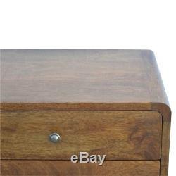 Paire De Milieu Du Siècle Déco De Bord Incurvé Tables De Chevet Dark Side Bois Livraison Gratuite