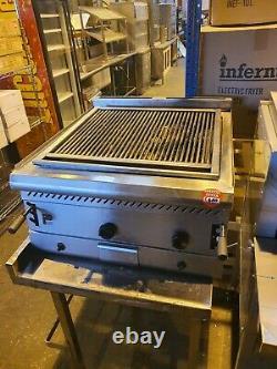 Parry Commercial Heavy Duty 2 Burner Table De Gaz Naturel Haut Charbon De Bois Grill