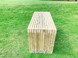 Patio De Jardin En Bois Traité À La Main Patio De Meubles Lourds Banc De Table 4ft 6ft