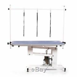 Pedigroom Grand Heavy Duty Professionnel Hydraulique Dog Grooming Table H Bar Bleu