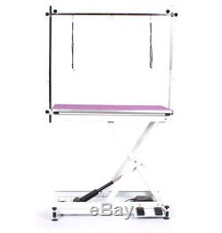 Pedigroom Table De Toilettage Pour Chien Électrique Professionnel Avec Cadre En H Pourpre
