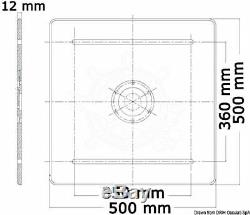 Piédestal De Table Robuste En Aluminium Osculati Avec Base Carrée Et Amortisseur