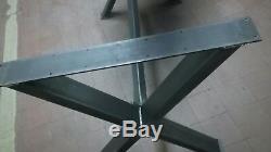 Pieds De Table De Repas Industriels En Métal Lourd, Pieds De Bureau Hauteur 74cm, Largeur 65cm