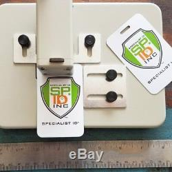 Poinçon Robuste Pour Table / Bureau Pour Badges De Carte D'identité Avec Guides Ajustables