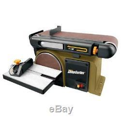 Ponceuse Banc Ceinture Disque Table Top Shop Ponçage Power Tool Heavy Duty Avec Disque