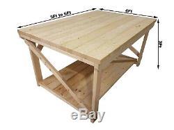 Profondeur Industrielle Superbe Résistante Large De La Table 4ft D'établi De Garage En Bois