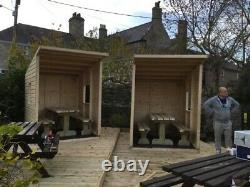 Pub Cabin 6ftx7ft & Heavy Duty Table & Bench Set No Self Assembly Requis