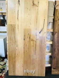 Reclaimed Modern Industrial Heavy Duty Oak Table Top Straight Design 2m X 1m
