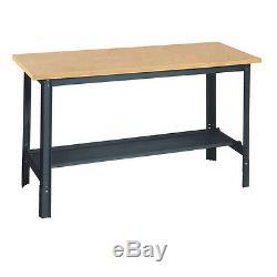 Réglable Heavy Duty Travail Acier Bois Banc Garage Jardin Table Atelier