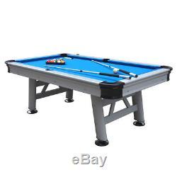 Robuste 7ft Professionnel Des Jeux D'extérieur-intérieur Astral Pool Table In Blue