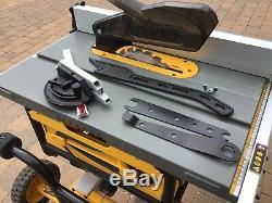 Scie À Table Dewalt Dw745 -240v Portable, Usage Intensif, Avec Support De7400. Étourdissant