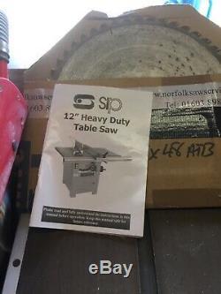 Scie Circulaire À Table Sip 240v 12 Heavy Duty Avec Aspirateur Sleppach
