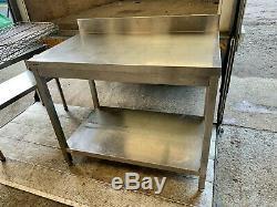 Service De Lourd Commercial Banc De Table De Préparation Inoxydable Avec Tirage £ 100 + Tva 100cm