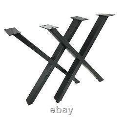 Set De 2 Pieds De Table Industriels Modernes X, Auto-nivelage, Poids Lourd