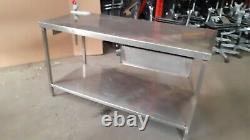 Solide Acier Inoxydable Prep Table De Travail Surface- Heavy Duty, Pas Bancal