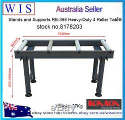Stands Et Supports Rb-365 Heavy-duty 4 Table À Rouleaux, 1040 X 365 X 600-1000mm