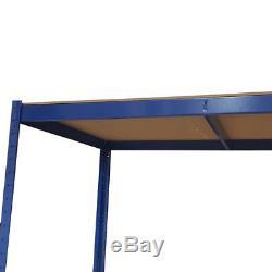 Station De Travail De Bricolage De Table D'atelier De Garage De Garage En Métal Bleu Résistant