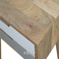Style Scandinave Deux Tiroirs Gris Et Blanc Table De Chevet Avec MID Century Jambes