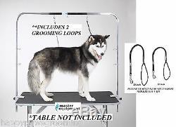 Support De Retenue De Bras Et De Pinces Et De Pinces Et De 2 Boucles Pro Dog Groomer Pour La Table De Toilettage