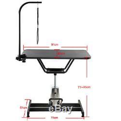 Support Hydraulique De Pivot De Coupe De Cheveux De Table De Toilettage De Chien Hydraulique Professionnel + Bras Et Laisse