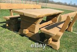 Table Avec Les Bancs, Robuste, En Bois Massif, Tout Neuf, Table De Pub