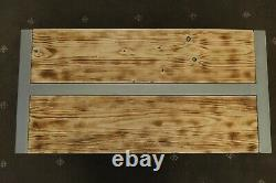 Table Basse Industrielle Rustique En Bois Et Acier (lourde)