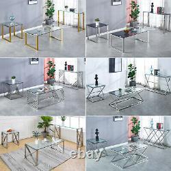 Table D'appoint En Verre Inoxydable De La Console Hallway Table De Salon Table De Café