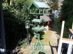 Table D'oiseaux Rustique Traditionnel En Bois Table D'alimentation D'oiseaux Vert