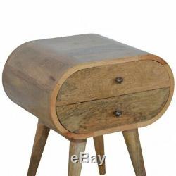 Table De Chevet Scandinave Arrondi Cabinet / Côté Table Milieu Du Siècle De Style Rétro