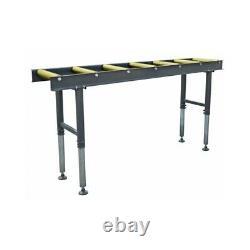 Table De Convoyeur À Rouleau Robuste Cormak 2 Mètres Réglable Sur La Table Des Jambes Roulant