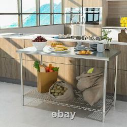 Table De Cuisine En Acier Inoxydable Robuste Table De Travail Prép Utilisation Commerciale De La Restauration