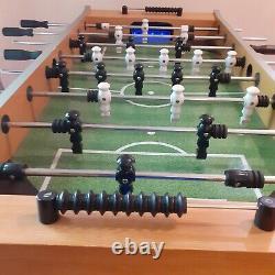 Table De Football Foos Ball Table De Poids Lourd Bon État Éclairage Led