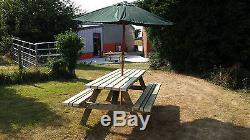 Table De Jardin 6 Places Robuste Pour Banc De Pique-nique