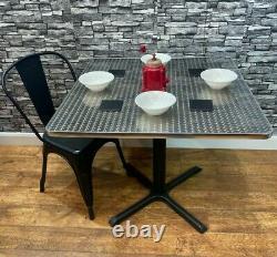 Table De Jardin En Acier Inoxydable Inoxydable En Acier Inoxydable Inoxydable À Usage Intensif 900mm Carré