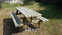 Table De Jardin Robuste À Assise Large Pour Banc De Pique-nique, 4 Pi