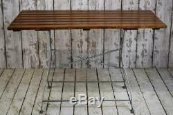 Table De Jardin Vintage Industrielle Robuste Pliante Café Bar 6 Disponible Ttc