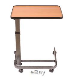 Table De Lit, Plateau Réglable Hôpital, Roulant Roues De Chevet, Overbed Side