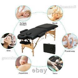 Table De Massage Pliable Portable Lit De Beauté Salon Thérapie Tattoo Couch Heavy Duty