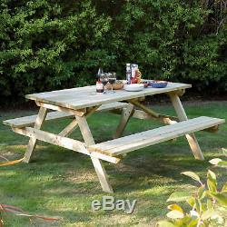 Table De Pique-nique 4 Places Et Mobilier D'extérieur De Patio De Bar De Jardin De Jardin Résistant
