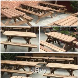 Table De Pique-nique / Banc De Jardin Résistant 1.5m / 5ft Sans Autoassemblage Requis