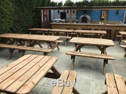 Table De Pique-nique / Banc De Jardin Résistant 1.8m / 6ft Sans Autoassemblage Requis