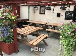 Table De Pique-nique / Banc De Jardin Résistant 3.6m / 12ft Aucun Assemblage Requis