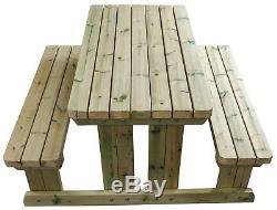 Table De Pique-nique / Banc De Pub Robuste De 5 Pi. De Style / Très Solide Et Robuste
