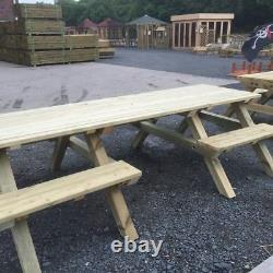 Table De Pique-nique En Bois Accessible En Fauteuil Roulant, Service Lourd, Aire De Pique-nique, Manger
