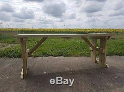Table De Pique-nique En Bois Meubles Extérieurs De Jardin De Houx Résistants