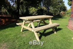 Table De Pique-nique, Mobilier De Jardin, Qualité Supérieure, Usage Intensif, Tanalised